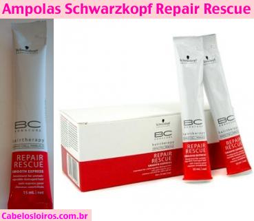 Ampolas Schwarzkopf Repair Rescue - Bonacure - Ampola Schwarzkopf Repair Rescue