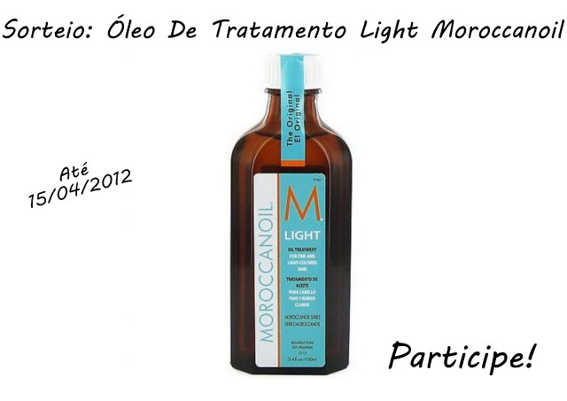 Patricinha Esperta10 003 - SORTEIO: Óleo de Tratamento Light Moroccanoil - encerrado