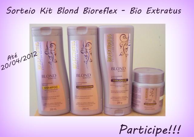 Sorteios 002 - SORTEIO:  Kit Blond Bio Reflex – Bio Extratus ( Encerrado)