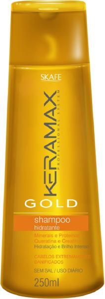 shampoo keramax gold  skafe 25 - Shampoo Hidratante Keramax Gold