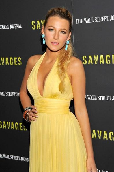 Blake Lively vestido amarelo - Loiras Podem usar Amarelo?