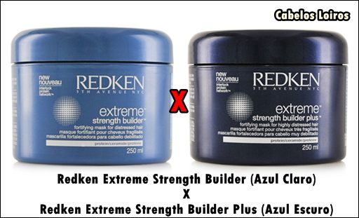 Máscara Reconstrutora Strength Builder Redken Extreme X Strength Builder Plus - Máscara Reconstrutora Redken Extreme Strength Builder