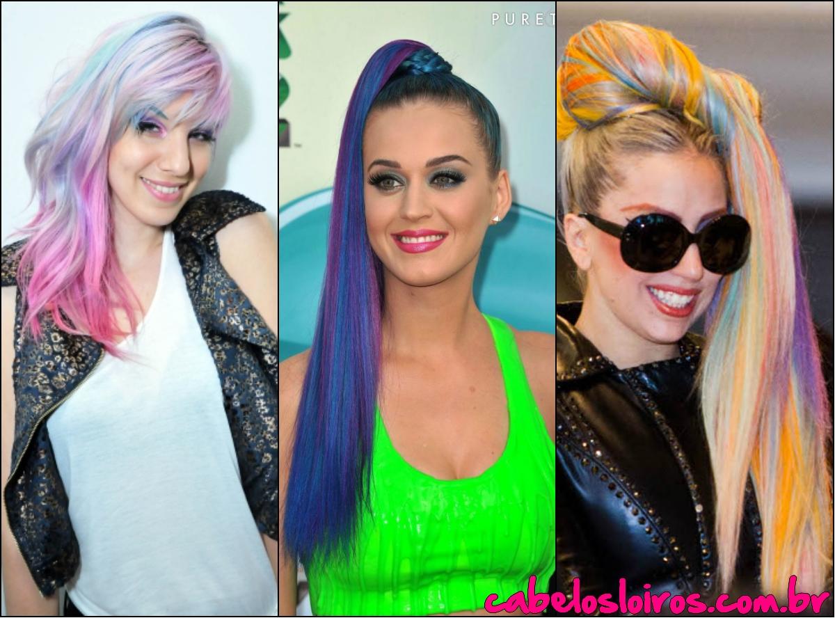 collage1 - Cabelos Coloridos.