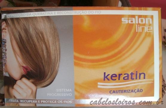 kit - Resenha: Keratin Cauterização (Salon Line)