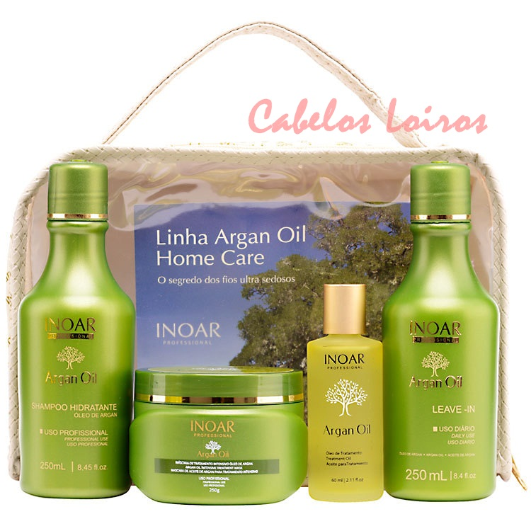 inoar argan oil home care kit 4 produtos  - Resenha: Kit Inoar Argan Oil Home Care