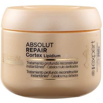 loreal absolut repair cortex lipidium - Máscaras de tratamento para cabelos loiros