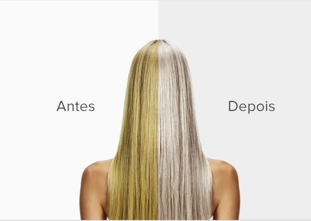 antes e depois ultimate blonde perola e platinum - Ultimate blonde matizador