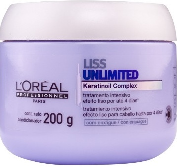 1 Loreal Expert Liss Unlimited Máscara 200ml - Efeito Liso – Tratamentos
