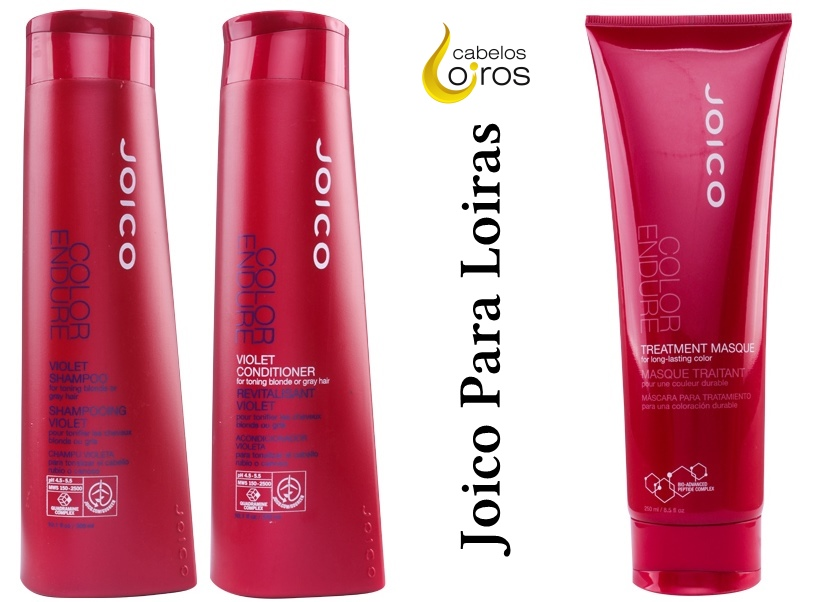 Joico Color Endure Violet Shampoo e Condicionador 1 - Mascara Joico para loiras Color Endure