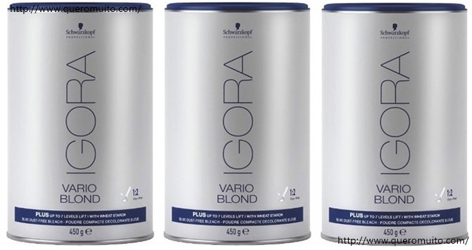 Schwarzkopf Vario Blond Plus Descolorante 450ml - Descolorante Igora Azul