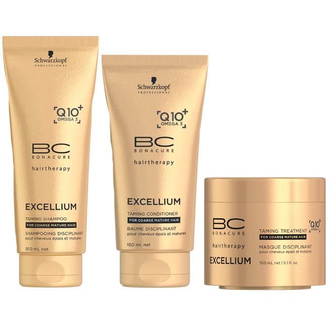 Schwarzkopf Bonacure Excellium Taming Kit Shampoo 200ml Condicionador 150ml e Mascara 150ml  - Dúvidas sobre a Igora Silver White
