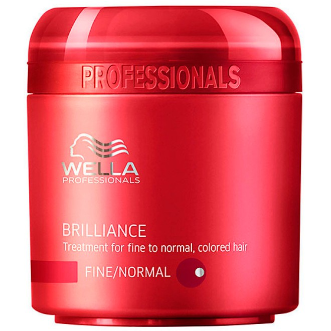 Wella Brilliance Mascara para Cabelos Normais e Coloridos 150ml - Color Perfect Loiros