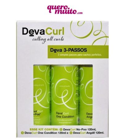Deva Curl Kit 3 Passos 3 Produtos  - Como Lavar sem Ressecar o cabelo?