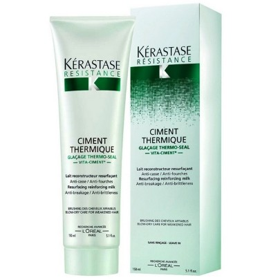 Kerastase Resistance Leave in Ciment Thermique 150ml - Kérastase Outlet 70% OFF - Estoque Limitado