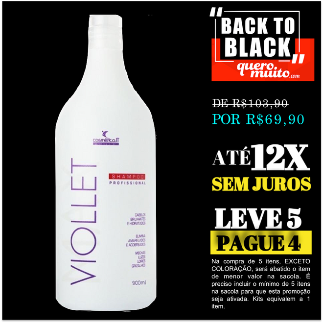 biondo shp 1000 black friday - Oferta de Matizador Violet Back In Black