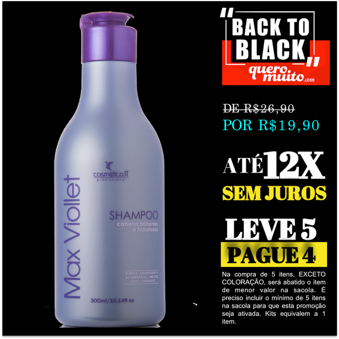 biondo shp ped black friday - Oferta de Matizador Violet Back In Black